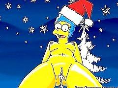 Hentai stars in Christmas orgy