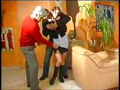 Father and son fucking maid