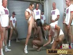 Interracial bukkake girl gangbang 13