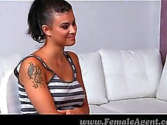 FemaleAgent - Amazing first lesbian casting