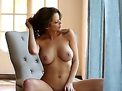 gentle brunette have luxury solo action