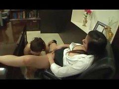Shy Girl Fingered By Lesbian Boss