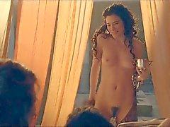 Jaime Murray Spartacus nude slo-mo