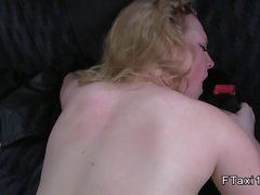 Girlfriend cheating bf in fake taxi with anal sex