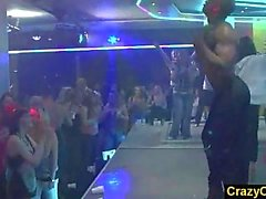Orgy in danceclub with amateur girls