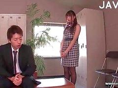 Slut giapponese in calze di figa scopata
