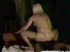 Interracial holiday movie with blonde milf