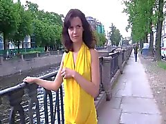 Russian beauties flashing in public
