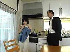 Concupiscente casalinga di giapponese ha uno stretto dolente figa irsuto FO