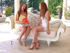 Check my dress by Sapphic Erotica Capri Anderson and Angelina Brill lesbians