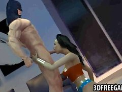 3D Wonder Woman fucked by Batman