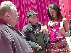Amateur fucks prostitute after handjob