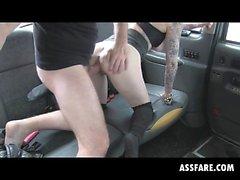Blonde Emo Trash Mila Milan Fucked Funny In Taxi Cab