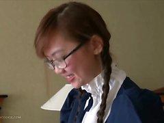 Yalnız sevimli süper busty UK asian hizmetçisi n camlar