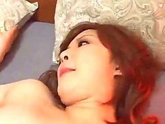 Asian Girl In Jeans Skirt Getting Her Shaved Pussy Fucked Creampie On The Bed