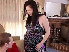 Aussie grávida fica cum