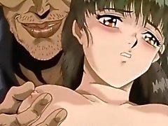 Bağladı Anime ve onu göğüsleri sıktı olur