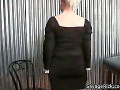 Hot nasty blonde babe gets bondage part1