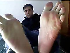 Webcam # 244 üzerinde Straight adam ayak