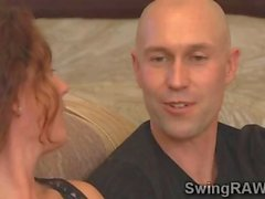 Sw couple spend first night in reality show fucking