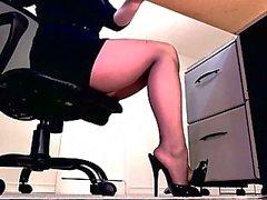 Erotic pantyhose teasing