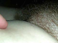 molle moglie micio pelose rilassarsi dopo la sua doccia