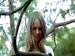 Beautiful angular girl Gloria opening