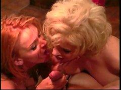 Sana Fey and Dakota lick cum off eachother's tits