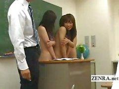 Naked in school Japan nudist schoolgirl oral sex party