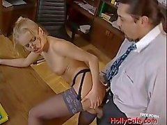 Horny executive secretary Dora Venter
