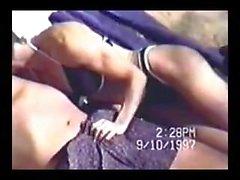 Vintage beach blowjob