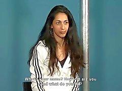 BDSM real casting Amanda 20yo