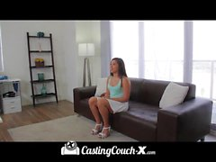 Hot curvy latina gets naked on camera