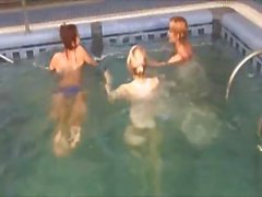 Three russian chicks in the pool