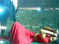 Leuke Noord-Indiase Aunty genoot met haar Partner
