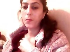 Turkish bbw brunette on her webcam showing off her chubby body
