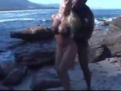 Hot Blonde Fuck Bull on the Beach.