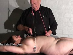 Rack tortured bbw in extreme bondage