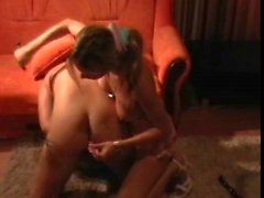 Girl putting toys in his ass, amateur