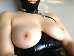 MILF fucked while wearing her BDSM outfit