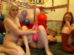 College Roomates Naughty Party in Dorm