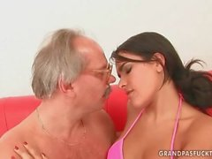 Lucky Grandpas Fuck Teens Compilation