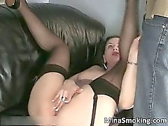 Dirty hot brunette chick gives guy great