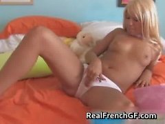 Amazing blond masturbating her fine part5