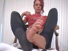Miss Crash Destroys Her Stockings