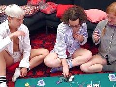 Hairy girls strip poker