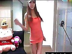 Sexig koreanska webbkamera tjej dans