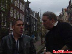 Dutch hooker pussylicked by redwindow tourist