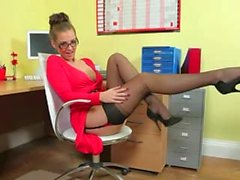 Incredibly neat secretary only teasing