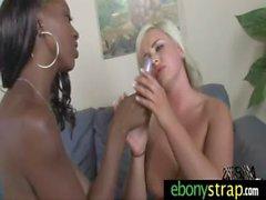 Spicy interracial lesbian porn video 1